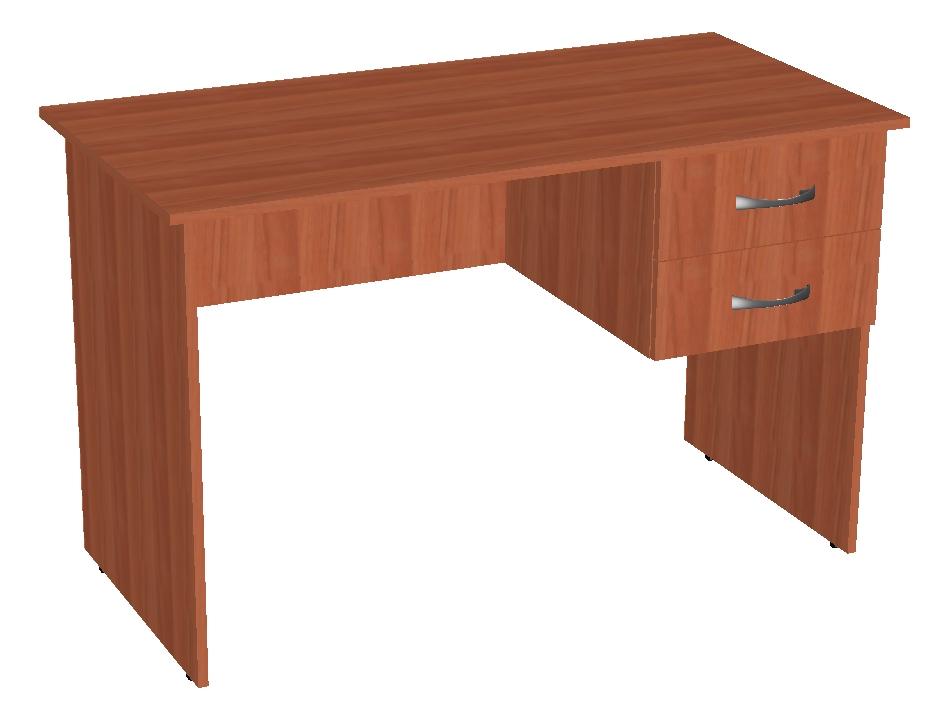 Стол письменный с подвесными ящиками . корпусная офисная меб.